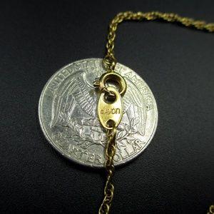 """Avon Jewelry - 15"""" Avon Heart Cross Religious Pendant Necklace"""